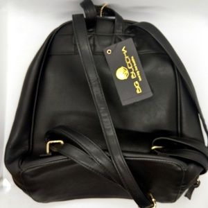 Big Buddha Black Mini Backpack Purse